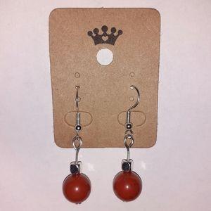 Healing Red Jasper Hook Earrings